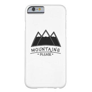 Capa Barely There Para iPhone 6 As montanhas de escalada de acampamento satisfazem