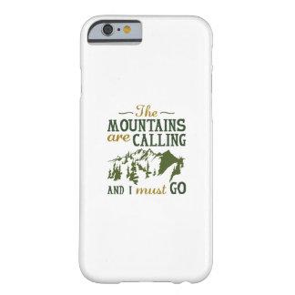 Capa Barely There Para iPhone 6 As montanhas estão chamando