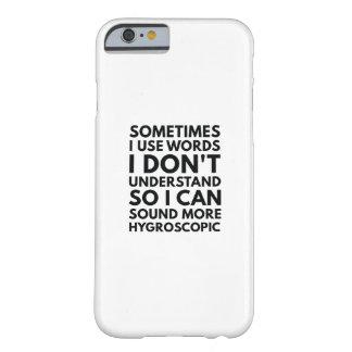 Capa Barely There Para iPhone 6 Às vezes eu uso palavras