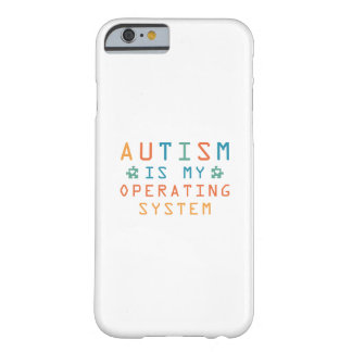 Capa Barely There Para iPhone 6 Autismo sistema operativo