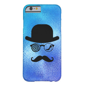 Capa Barely There Para iPhone 6 Azul de vidro dos bigodes do Womanizer do lobo do
