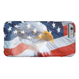 Capa Barely There Para iPhone 6 Bandeira americana da águia americana patriótica