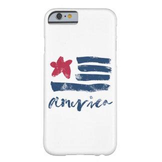 Capa Barely There Para iPhone 6 Bandeira americana Paintstrokes