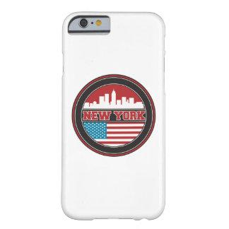 Capa Barely There Para iPhone 6 Bandeira dos Estados Unidos da skyline   de New
