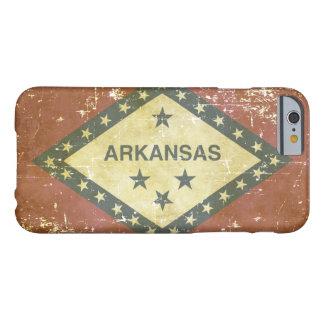 Capa Barely There Para iPhone 6 Bandeira patriótica gasta do estado de Arkansas