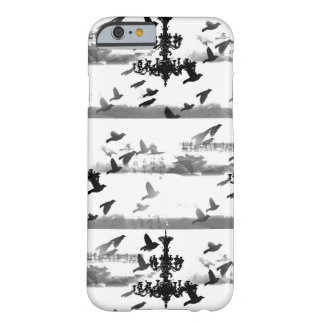 Capa Barely There Para iPhone 6 Birds of a Feather - preto & branco do candelabro