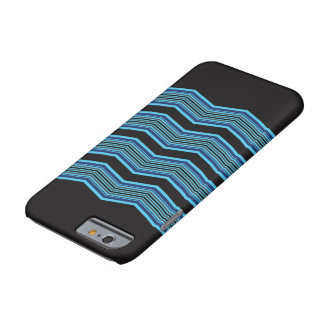 Capa Barely There Para iPhone 6 Black and Blue Geometric Case