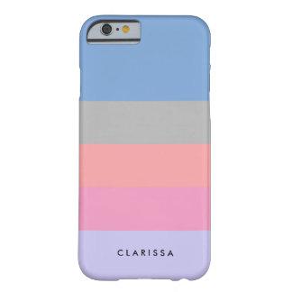 Capa Barely There Para iPhone 6 bloco roxo azul cinzento coral da cor do rosa