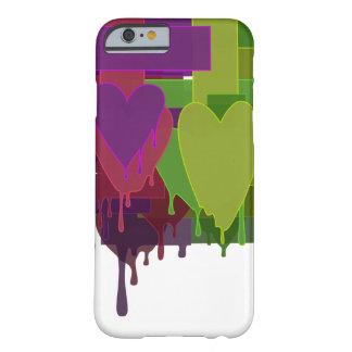 Capa Barely There Para iPhone 6 Blocos da cor que derretem corações