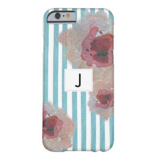 Capa Barely There Para iPhone 6 Boho listrado à moda Monogramed chique floral