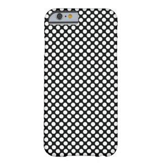Capa Barely There Para iPhone 6 Bolinhas (pretas & branco) algum tamanho