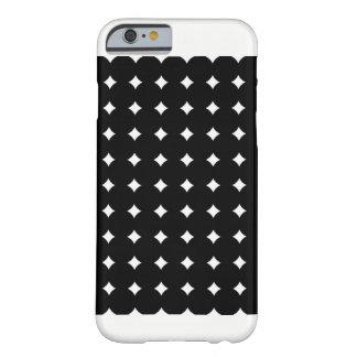 Capa Barely There Para iPhone 6 Bolinhas preto do caso de Iphone 6/6S, branco