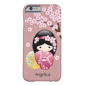 Capa Barely There Para iPhone 6 Boneca de Kokeshi do primavera - gueixa japonesa