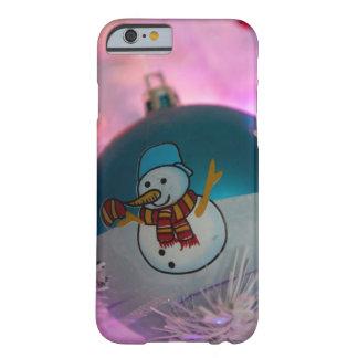 Capa Barely There Para iPhone 6 Boneco de neve - bolas do Natal - Feliz Natal