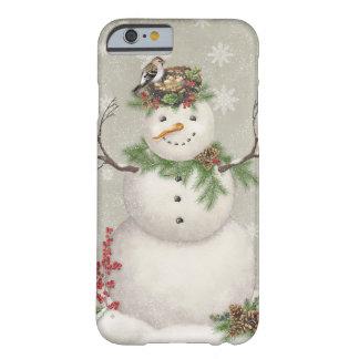 Capa Barely There Para iPhone 6 boneco de neve moderno do wintergarden do vintage