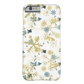Capa Barely There Para iPhone 6 Bonecos de neve e caso do iPhone 6/6s do inverno