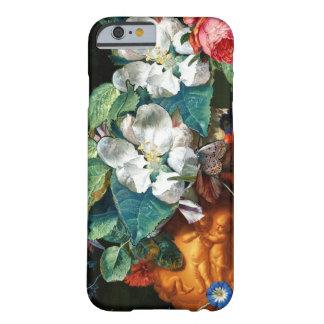 Capa Barely There Para iPhone 6 BORBOLETA nas FLORES BRANCAS florais