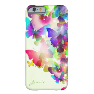 Capa Barely There Para iPhone 6 borboletas coloridas do primavera abstrato com