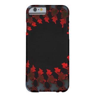 Capa Barely There Para iPhone 6 Branco preto vermelho do Fractal