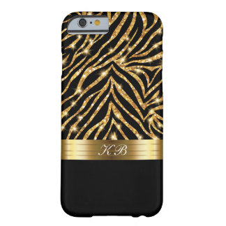 Capa Barely There Para iPhone 6 Brilho elegante chamativo do ouro das senhoras de