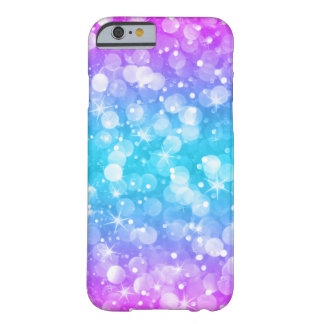Capa Barely There Para iPhone 6 Brilho Glam GR4 cor-de-rosa & azul de Ombre de
