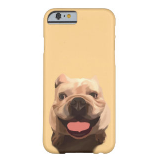 Capa Barely There Para iPhone 6 Buldogue feliz