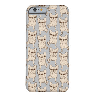 Capa Barely There Para iPhone 6 Buldogue francês de creme