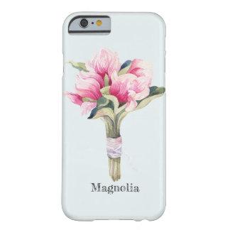 Capa Barely There Para iPhone 6 Buquê feminino da magnólia