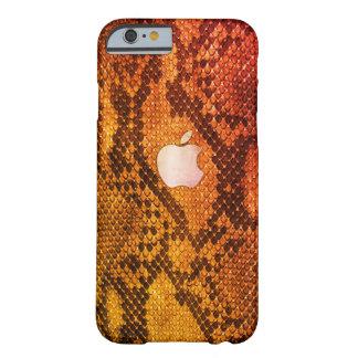 Capa Barely There Para iPhone 6 Caixa alaranjada do estilo da pele de cobra