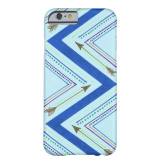 Capa Barely There Para iPhone 6 Caixa azul do ziguezague da seta