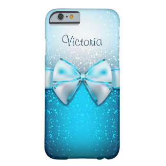 Capa Barely There Para iPhone 6 Caixa azul feminino do iPhone 6 do feriado do