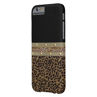 Capa Barely There Para iPhone 6 Caixa cercada de IPhone 6 do leopardo