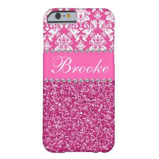 Capa Barely There Para iPhone 6 Caixa cor-de-rosa & branca do cristal de rocha do