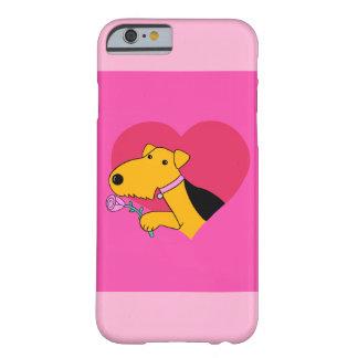 Capa Barely There Para iPhone 6 Caixa cor-de-rosa do iPhone 6 de w do cão de