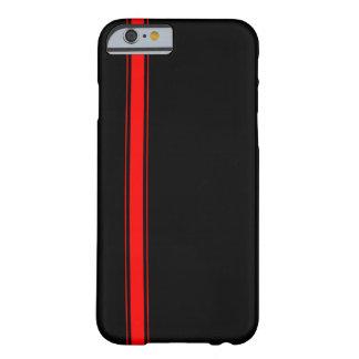 Capa Barely There Para iPhone 6 Caixa de competência preta e vermelha do iPhone 6
