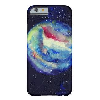 Capa Barely There Para iPhone 6 Caixa do planeta, arte do cosmos da aguarela