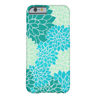 Capa Barely There Para iPhone 6 Caixa floral boémia do iPhone 6 do verde azul do