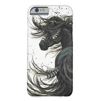 Capa Barely There Para iPhone 6 Caixa preta do iPhone 6 do cavalo do frisão