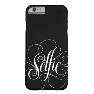 "Capa Barely There Para iPhone 6 Caixa preta elegante do iPhone 6 de ""Selfie"" da"