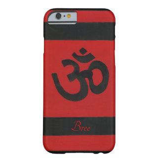 Capa Barely There Para iPhone 6 Caixa preta vermelha sânscrito personalizada da