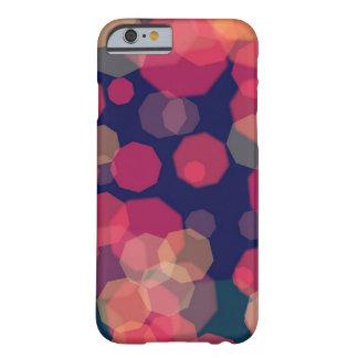 Capa Barely There Para iPhone 6 Caixa roxa e cor-de-rosa abstrata borbulhante de