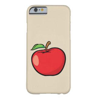 Capa Barely There Para iPhone 6 caixa vermelha da maçã para o iPhone 6/6s
