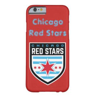 Capa Barely There Para iPhone 6 Caixa vermelha das estrelas de Chicago