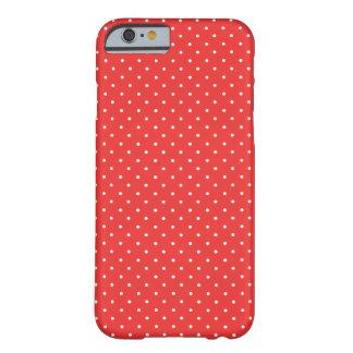 Capa Barely There Para iPhone 6 Caixa vermelha e branca da papoila das bolinhas do