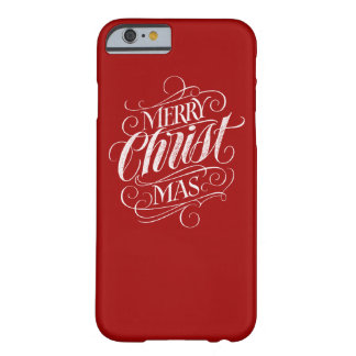 Capa Barely There Para iPhone 6 Caligrafia cristã do quadro do Natal do cristo