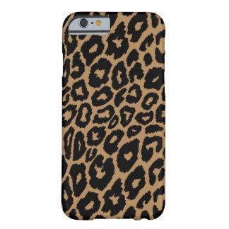 Capa Barely There Para iPhone 6 Cambiador do fundo do impressão do leopardo