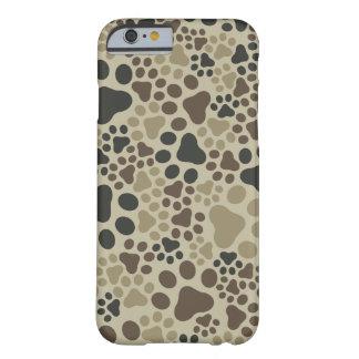 Capa Barely There Para iPhone 6 Camuflagem da almofada da pata