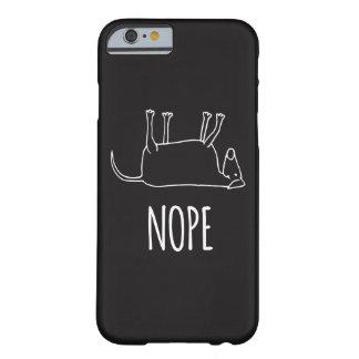 Capa Barely There Para iPhone 6 Cão preguiçoso - Nope