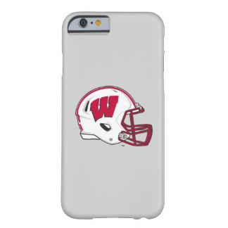 Capa Barely There Para iPhone 6 Capacete de futebol de Wisconsin |