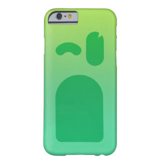 Capa Barely There Para iPhone 6 Cara verde PhoneCase